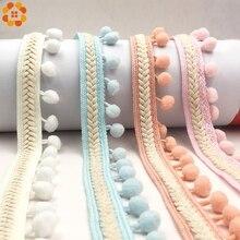 цены 3Yard Vintage Embroidered Trim Ribbon 1.2CM Pom Pom Ball Fringe Ribbon Crafts Lace DIY Sewing Accessories Decoration Supplies