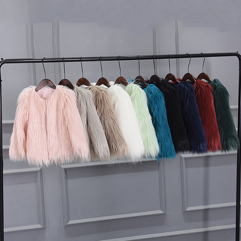 MILANCEl 2018 New Girls Coat Faux Fur Coat for Girls Fur Coat Soft Outerwear Children Clothes coat gaudi coat