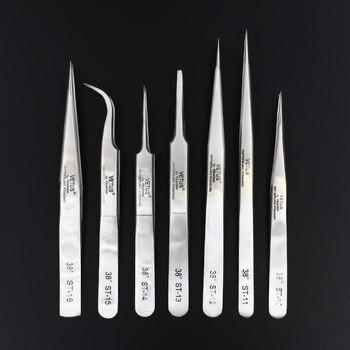100% Genuine Vetus ST Series New HRC 38 Ultra Precision 302 Stainless Tweezers Mink Eyelash Extensions Anti Acid 1