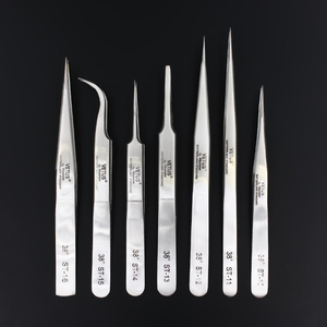 Image 1 - 100% Genuine Vetus ST Series New HRC 38 Ultra Precision 302 Stainless Tweezers Mink Eyelash Extensions Anti Acid