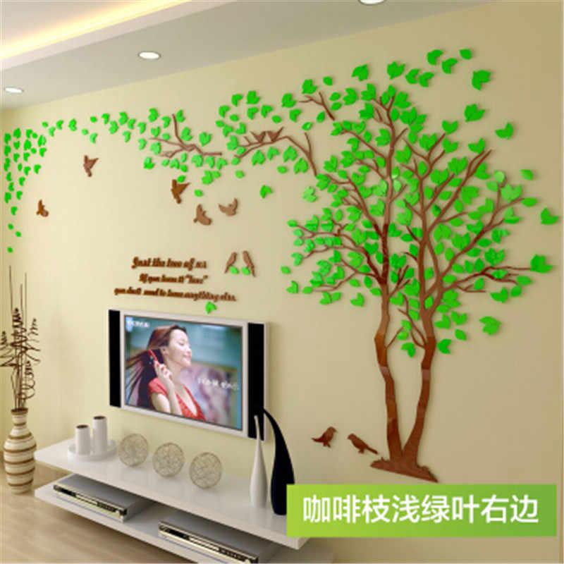 """1 יחידות 400x200 ס""""מ 3D מרקם אקריליק עץ טלוויזיה הגדרת קיר מדבקות סלון עצי עבור קירות מדבקות חום בית תפאורה קיר מדבקות"""