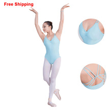 Girls Adult Summer Sleeveless Ballet Leotards Cotton Stretch Bodysuit Women Ladies Gymnastics Leotards Dance Clothes