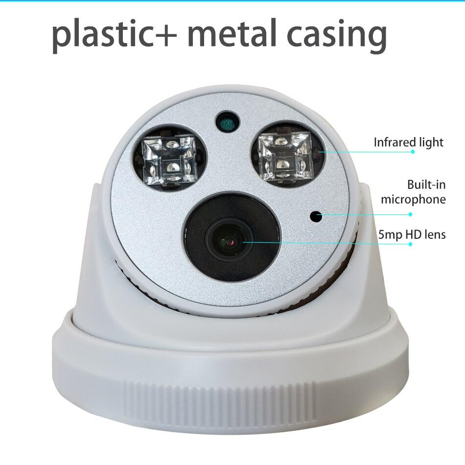 Image 5 - Встроенная аудио H.265 IP камера 1080P 3mp 5mp 2,8 мм 3,6 мм ONVIF 48 в poe сетевая ipcam Внутренняя купольная камера l XMEye CCTV-in Камеры видеонаблюдения from Безопасность и защита
