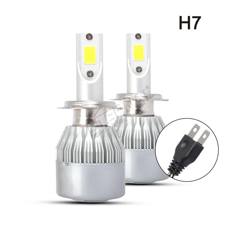 free shipping 7200lm C6 LED headlight bulb kit auto car H1 H3 H4 H7 H11 H13 9005 9006 9004 9007 880 9012 Headlamp fog light