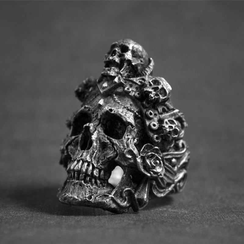 Ring For Men Death Skull Stainless Steel Punk Biker Top Quality