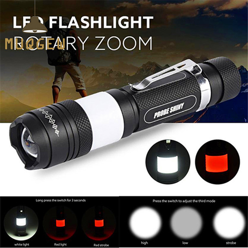 rechargable torch flashlight G700 X800 Tactical Zoomable XML T6 LED Military Flashlight lamp powerful led flashlight #4A22 (4)