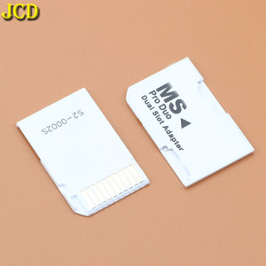 JCD 1Pcs New Dual 2 Slot Micro For SD SDHC TF to Memory Stick MS Card Pro Duo Reader Adapter For PSP Adapter Converter