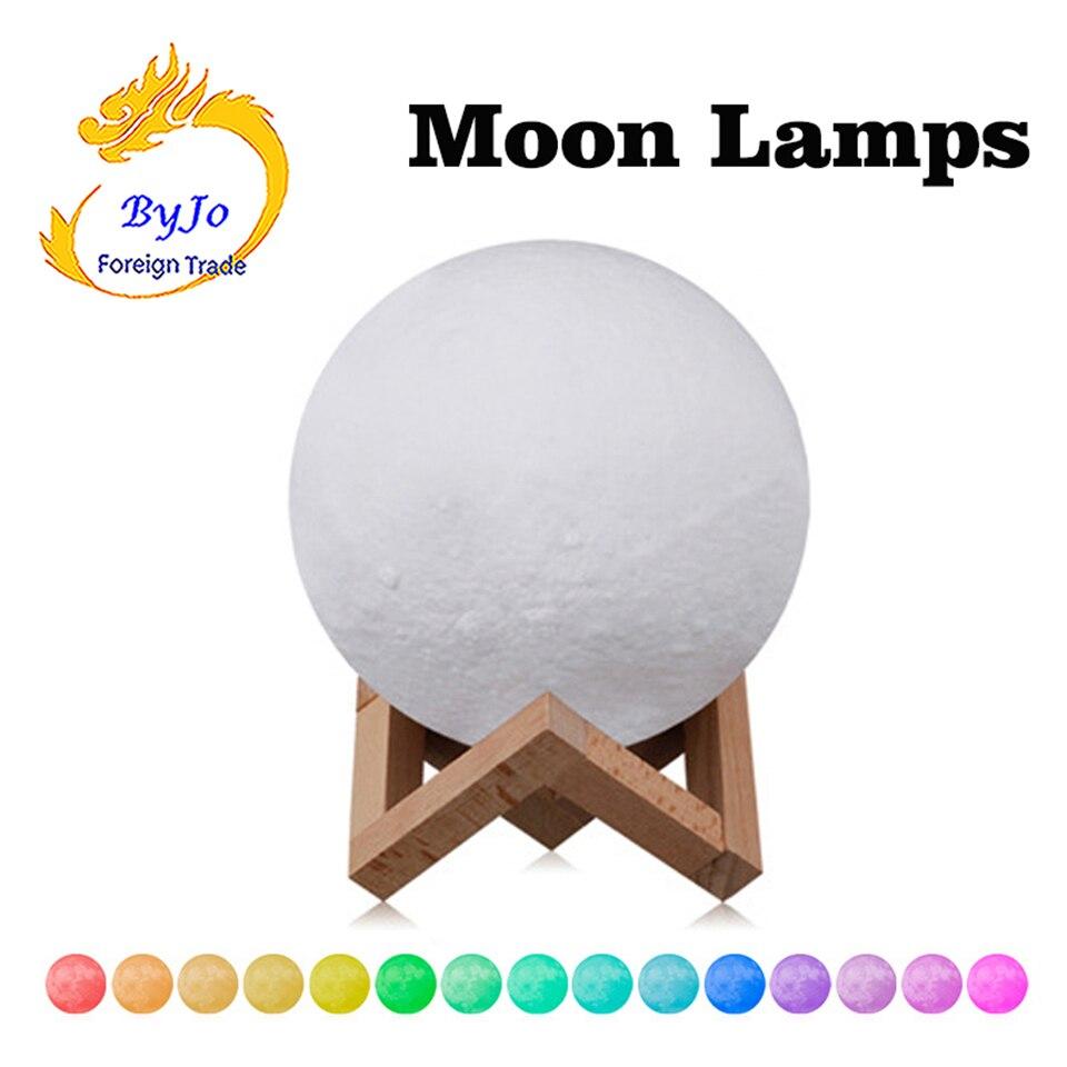 3D лунный свет Smart Touch ДИСТАНЦИОННОГО Управление 16 Цвет преобразования светодиодный подарок ночники