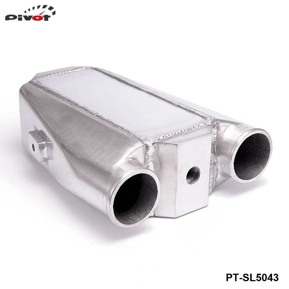 ФОТО PIVOT -Universal Aluminum Bar & Plate Front Mount Water-To-Air Intercooler Inlet/Oulet 2.5