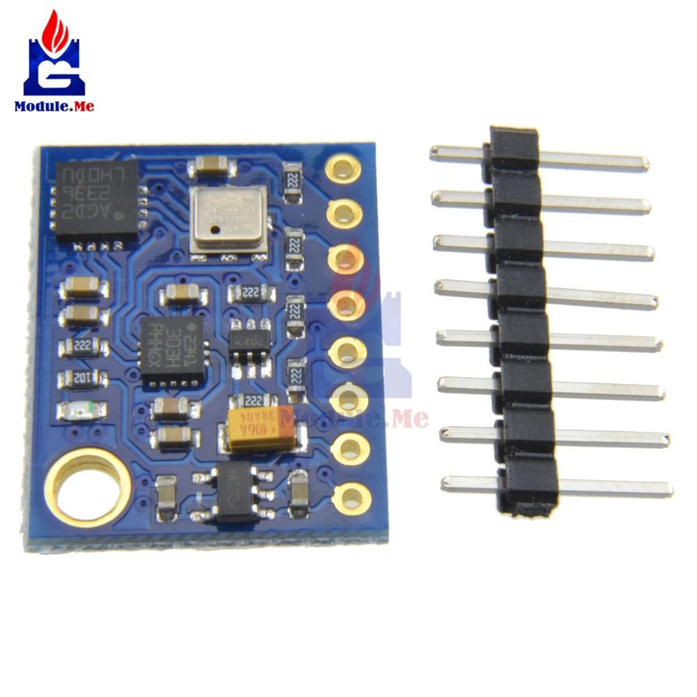 GY-89 BMP180 Gyro acelerómetro magnetómetro barómetro Sensor módulo GY89 para Arduino 10DOF I2C IIC SPI L3GD20 LSM303D