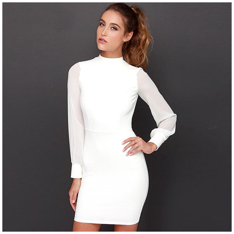 NEW font b Women b font Backless Slim Sexy Dress Elegance Fashion Summer Autumn Dress Club