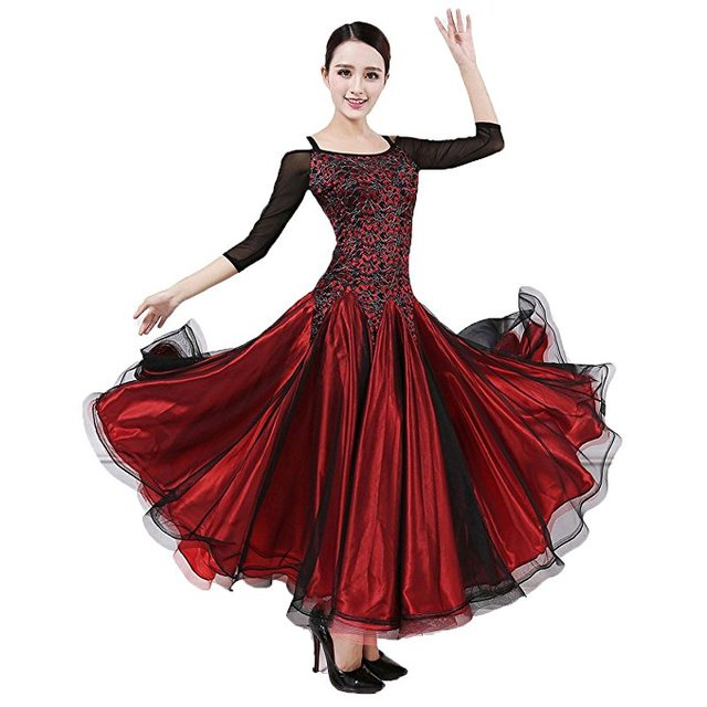 9bf718e83 Ballroom Dance Dresses Practise Competition Dancewear Modern Women Flamenco  Waltz Tango Smooth Ballroom Dance Costumes