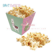 12pcs Llama Popcorn Box for Kids Children Alpaca Theme Birthday Party Baby Shower Party Decoration Supplies Favor(China)
