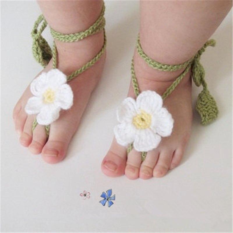 QYFLYXUE Fashion Hot-selling Shoe Flower Handmade Knitted Yarn  Baby Summer