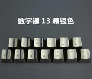 Kunci Mekanik Logam Tombol Pengubah Cherry MX Switch Tombol DOTA2 Cs Pergi Game Perak Metalik OEM