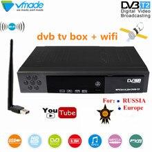DVB TV BOX haut numérique terrestre TV récepteur DVB T2 8902 avec USB WIFI Dongle dvb t2 prise en charge pour Youtube MPEG 2/4 décodeur
