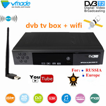DVB TV BOX high digital Terrestrial TV receiver DVB T2 8902 with USB WIFI Dongle dvb t2 support for Youtube MPEG 2/4 set top box