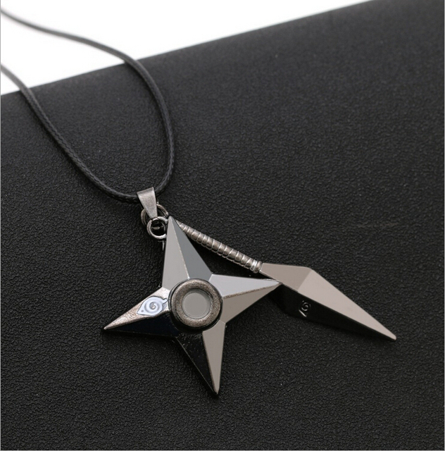 Naruto Shuriken Metal Pendant Necklaces
