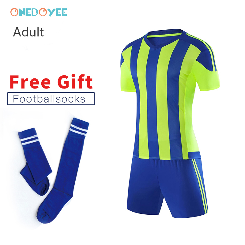 ONEDOYEE Custom Men Soccer Jerseys Set Uniforms Adult Football Jerseys Kit Breathable Football Shirt Short Tracksuit Free Socks цена