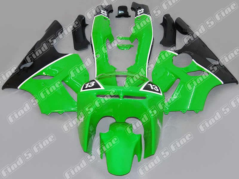 green black for KAWASAKI Ninja ZX-6R 94-97 ZX6R 94 95 96 97 ZX6R 1994-1997 ZX 6R 1994 1995 1996 1997 ABS fairing kit