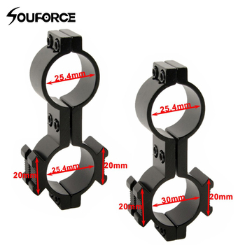 25.4mm/25.4mm & 30mm Ring Double for 20mm Rail Mount For Flashlight Rifle Scope Outdoor hunting Accessories