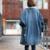 Rebantwa Longo Denim Parkas Mulheres Casacos de Inverno de Algodão Grosso Casaco de Inverno Mulheres Lã de Cordeiro Outwear Causal Manteau Femme Plus Size