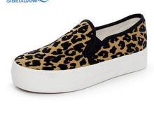 Breathable Comfortable font b Women s b font Flats New Arrival Leopard Women font b Shoes