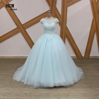 2019 Graceful Mint Green Ball Gown Quinceanera Dresses Chic Beaded Tulle Puffy Long Quinceanera Dress Sweet 16 Girl Party Gown