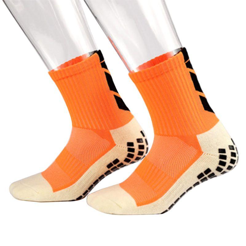 Mens Unisex Thickened Cushion Towel Non-Slip Sport Long/Short Over Ankle Socks With Rubber Grips For Football Soccer Basketball