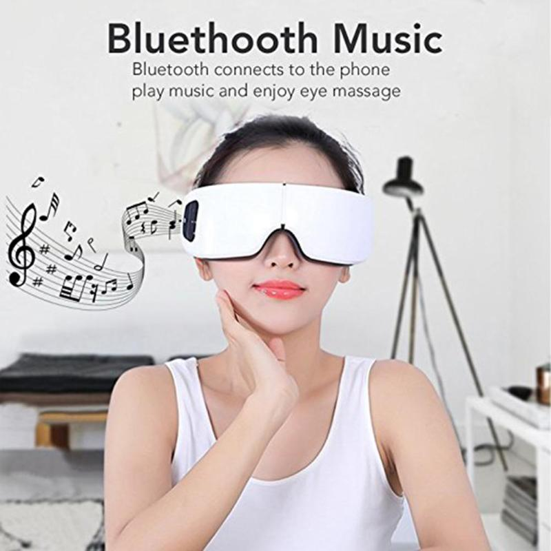 Eye Massager Electric SPA Air Pressure Eyes Massager Instrument Music Wireless Vibration Magnetic Heating Therapy Eye Care