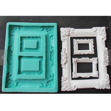 PRZY Silicone fondant mold Photo Frame Mold food grade Fondant Cake Decoration Sugar Craft Tools Random Color