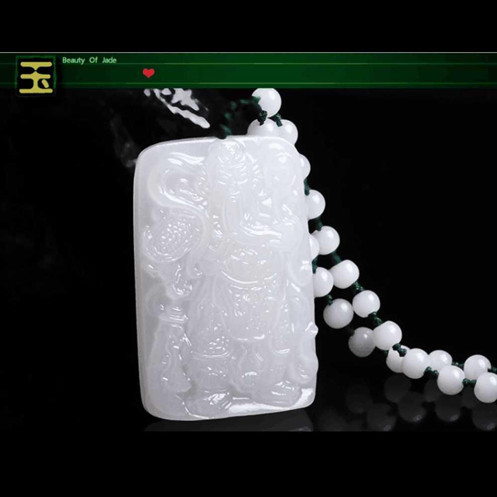 Meajoe อินเทรนด์สีขาวหยก Lucky Amulet จี้สร้อยคอหิน Reiki ลูกปัดจี้สร้อยคอผู้หญิงเครื่องประดับ