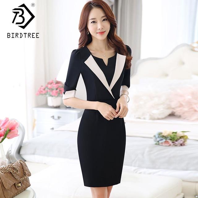 40a418500fda 2018 NEW Elegant OL Style Women Dress Official Workwear Working Clothings  Korean Style Bodycon Plus Size 3XL Dresses D87208X
