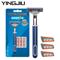Men Shaving Razor Set 1 holder 4 Pieces 3 Blades Shaving Razor Shaver Trimmer Cassette Head 3 Razor Blade