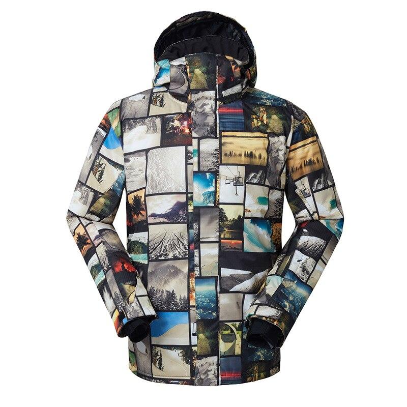 Gsou Snow costume de Ski extérieur pour hommes veste de Ski Double planche hommes chaud respirant imperméable coupe-vent vêtements en coton pour hommes - 6