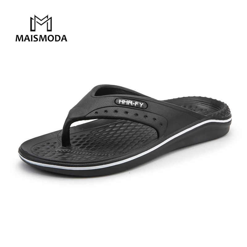 d7031045da94 MAISMODA Summer Men Flip Flops Beach Slippers Men Casual Fashion Non-Slip  PU Shoes Plus