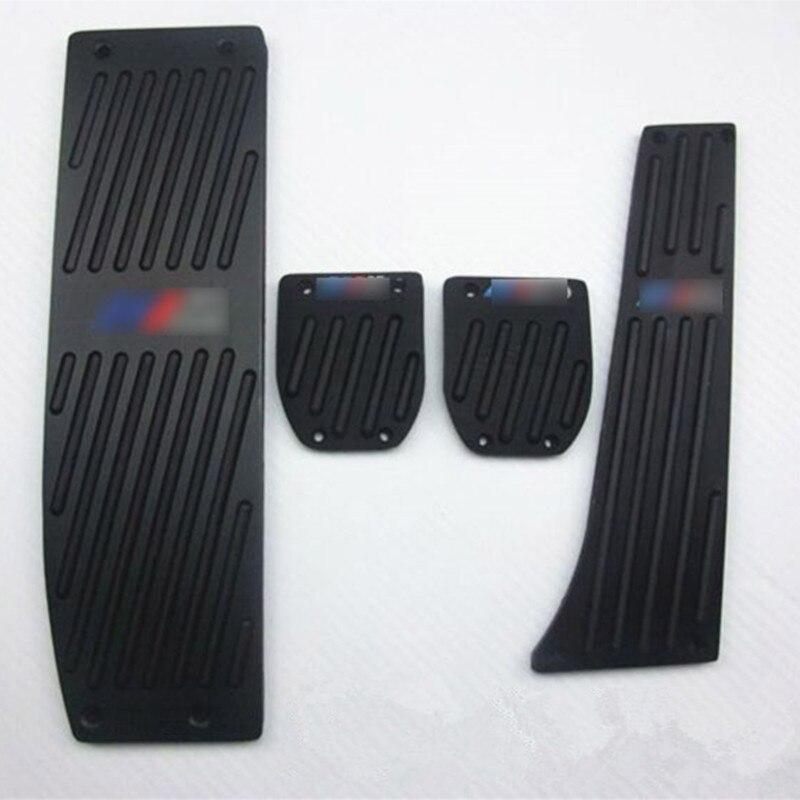 Fashion Silver Black Aluminium Alloy Car Pedals Rest For BMW X1 M3 E30 E36 E39 E46 E87 E90 E91 E92 E93 Car Styling accessories