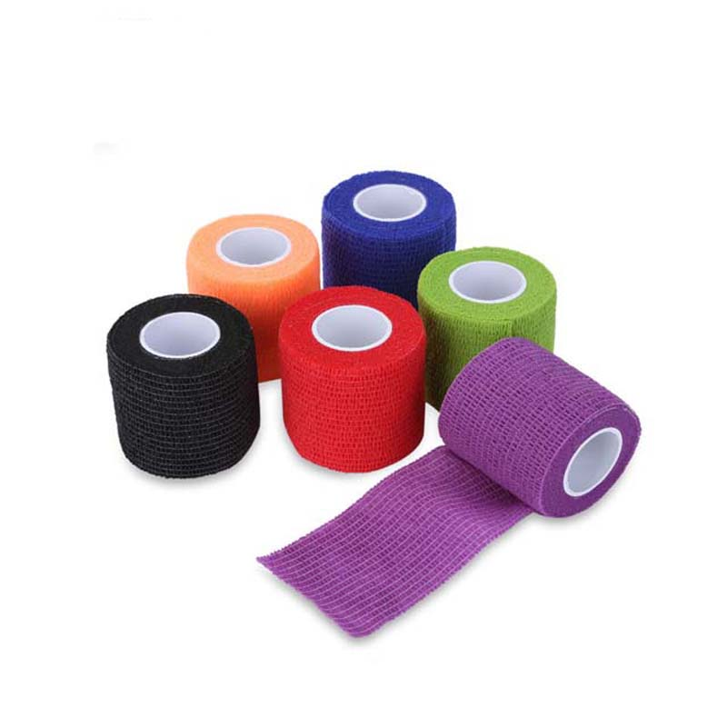 5pcs/Lot Non-Woven Self Adhesive Tape For Skin Security Protection First Aid Cohesive Bandage Medical Elastic Bandages Vet Wraps