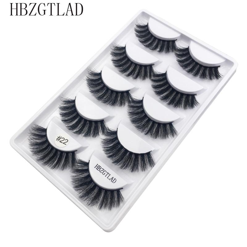 5pairs/1box thick false eyelashes black long 3d mink eyelashes eyelash extension professional mink lashes makeup eye lashes G800-in False Eyelashes from Beauty & Health