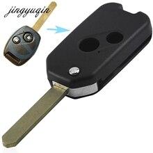 Jingyuqin 10 шт./лот 2b + Panic/2/3/4 кнопки изменение брелок В виде ракушки для Honda Odyssey rigeline accordremote Флип складной чехол