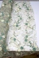 Африканский Кружева Швейные Материал 5yard/серия тюль кружевной ткани 2018 высокое качество органза 3d кружевной ткани для свадьбы