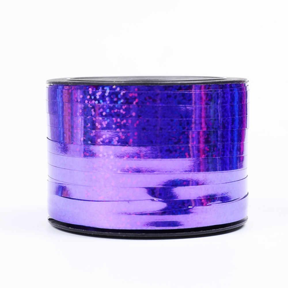 BINGTIANใหม่0.5Cm * 100M Prism Hoop Holographic Tapeสำหรับบรรจุของขวัญกาวเทปเลเซอร์บอลลูนริบบิ้นทองglitterบอลลูน