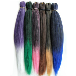 Provado-extensions de tresses synthétiques pré-étirées, coiffures en vrac argentées, rugueuses, Jumbo, 20 à 26 pouces, 75g et 90g