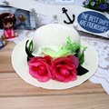 1 Pcs 2016 New Korean Fashion Outdoor Women And Girl Sun Hats Spring Summer parent-child Beach Straw Hat 8 Colors Free Shipping
