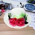 1 Unids 2016 Nueva Moda Coreana Mujeres Y Niña Sol Al Aire Libre sombreros de Primavera y Verano del padre-niño Playa Sombrero de Paja de 8 Colores El Envío Libre