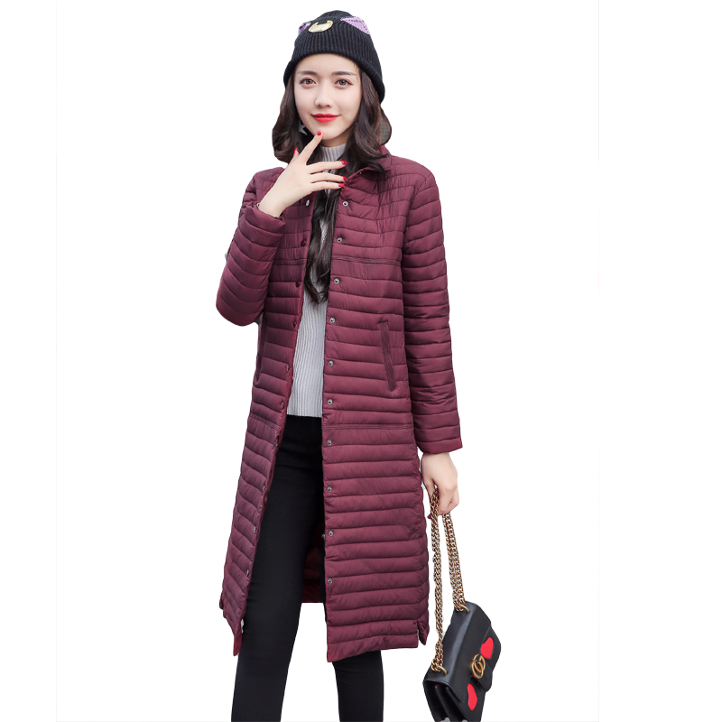 2017 New Autumn Winter Wadded Jacket Women Medium-long Outerwear Cotton-padded Jacket Coat Casual Women Clothing Parkas CM0825