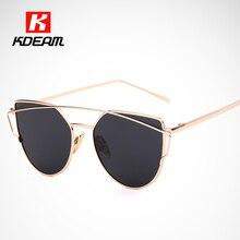 Chapado En oro gafas de Sol Polarizadas Mujeres Futurismo polarizadas Ojo de Gato gafas de Sol gafas de sol Para Hombre Gafas de sol zonnebril KDEAM CE