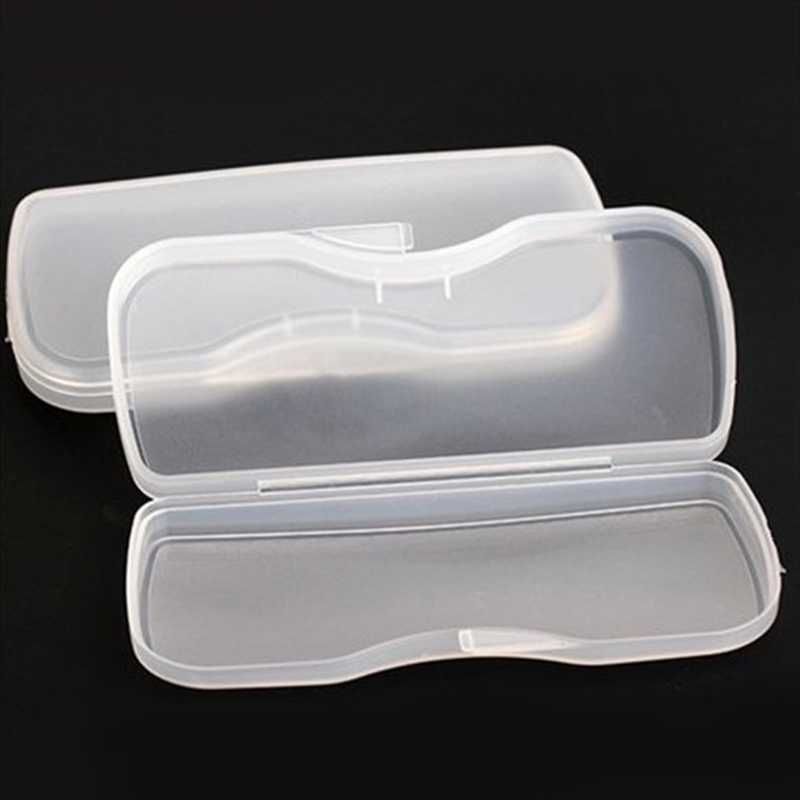 New Portable Transparent Shell Case Protector Box For Clip-on Flip-up Len Glasses