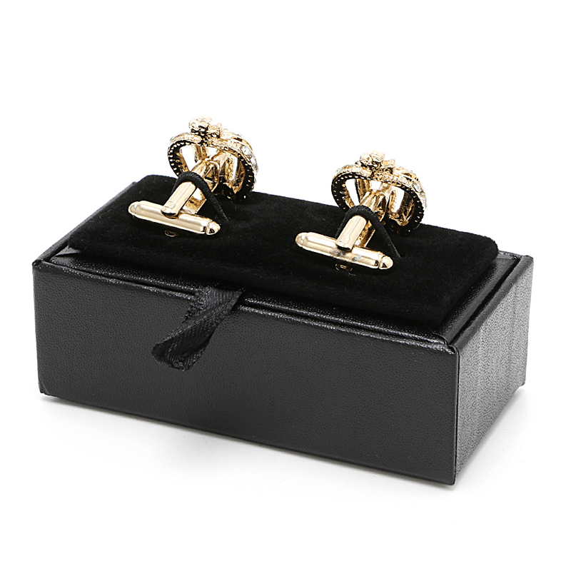 Portable Multi-functional Men Cufflinks Tie Clip Ring Storage Box Faux Leather Organizer Display Cuff Case Jewelry Boxes Gift