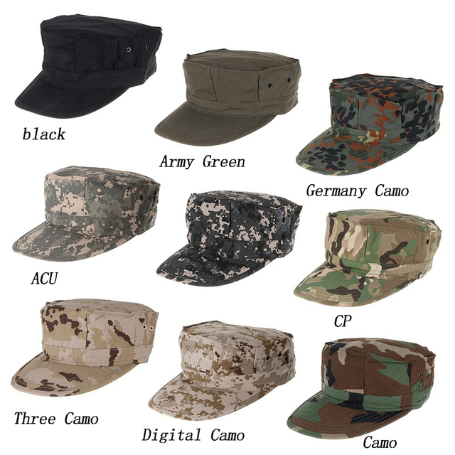c004e757b02 Military Hunting Cap Camouflage Bucket Hat Multifunctional Army Caps  Camping Hiking Soldier Hats